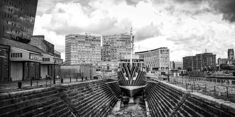 liverpool docks editorial photography photographer black & white photo